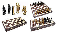 Шахматы 3139 SPARTAN коричневые 50х25х6см (король-100мм)