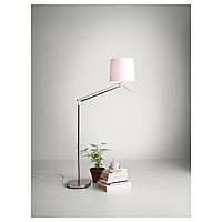 """IKEA """"САМТИД"""" Светильник напольн/для чтения, никелированный, белый"""