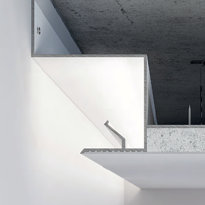 Алюминиевый профиль теневого шва 25 мм для парящего потолка с подсветкой