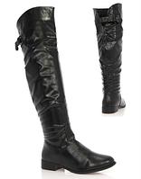 Женские сапоги черного цвета