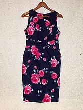 Красивое хлопковое платье стрейчивое в принт розы