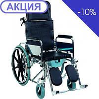 Коляска инвалидная многофункциональная с санитарным оснащением Heaco Golfi-4, фото 1