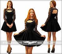 Расклешенное платье с подъюбником