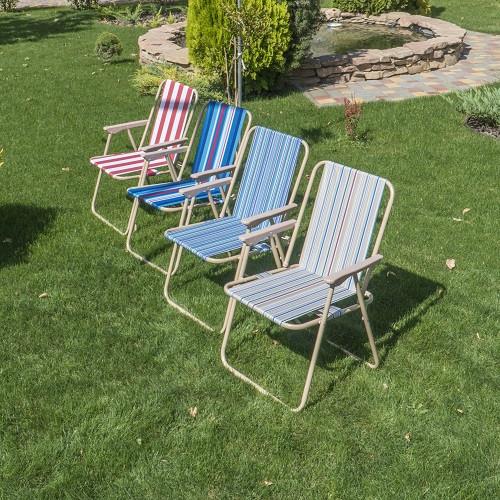 """Крісло розкладне для пікніка та риболовлі """"Веселка"""" 52*48*76 см MH-3075B"""