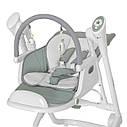 Стульчик для кормления кресло-качалка шезлонг темно-серый Carrello Triumph с пультом от рождения до 3-х лет, фото 5