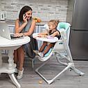 Стульчик для кормления кресло-качалка шезлонг темно-серый Carrello Triumph с пультом от рождения до 3-х лет, фото 8