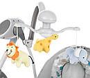 Крісло-гойдалка шезлонг 3в1 м'ятно-бежева Carrello Nanny пульт знімний столик вкладиш обертаються іграшки, фото 8
