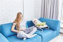 Кресло-качалка шезлонг 3в1 мятно-бежевая Carrello Nanny пульт съемный столик вкладыш вращающийся игрушки, фото 10