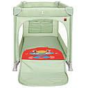 Детский манеж манеж-кровать зеленый Carrello Molto с двойным дном пеленальным столиком сумкой колесами, фото 4