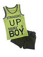 """Костюм летний """"Mama`s BOY"""" для мальчика, от 80 до 116 см роста"""