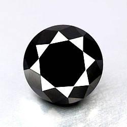 Чорний діамант 1.33 карат 6.69 x 6.69 x 4.30 MM