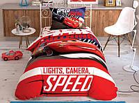 Детское постельное белье TAC Disney Cars Spectator полуторка на резинке