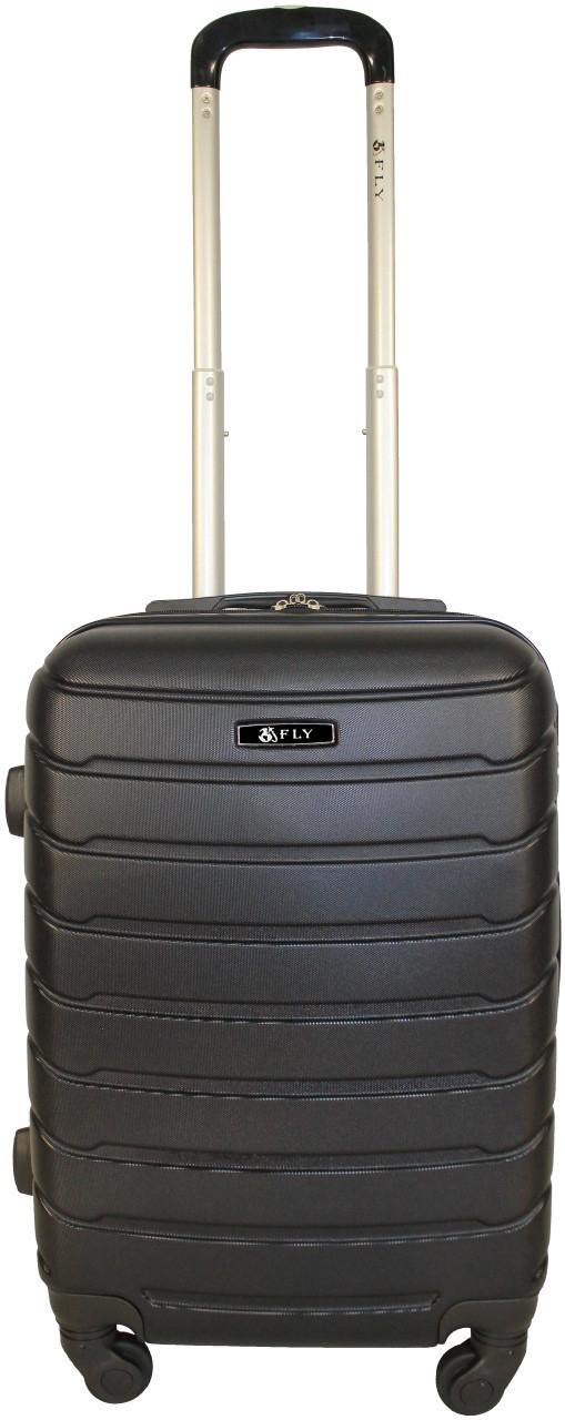 Чемодан пластиковый на 4х колесах мини XS черный   20х51х35 см   2.400 кг   27 л   FLY 1107