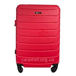 Валіза пластикова на 4х колесах міні  XS бордова   20х51х35 см   2.400 кг   27 л   FLY 1107