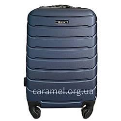 Чемодан пластиковый на 4х колесах мини XS тёмно-синий   20х51х35 см   2.400 кг   27 л   FLY 1107