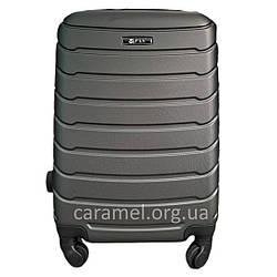 Валіза пластикова на 4х колесах міні  XS темно-сіра   20х51х35 см   2.400 кг   27 л   FLY 1107