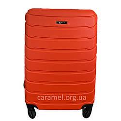 Чемодан пластиковый на 4х колесах мини XS оранжевый   20х51х35 см   2.400 кг   27 л   FLY 1107