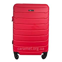 Чемодан пластиковый на 4х колесах мини XS красный   20х51х35 см   2.400 кг   27 л   FLY 1107
