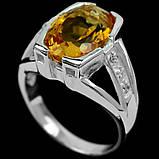Серебряное кольцо с цитрином, 1755КЦ, фото 2