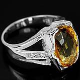 Серебряное кольцо с цитрином, 1755КЦ, фото 3