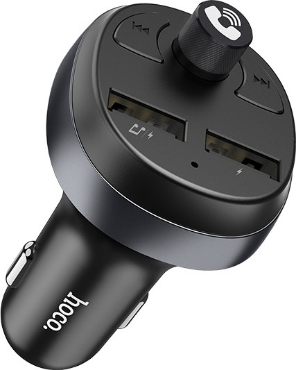 FM-модулятор Hoco E41 In-car audio wireless FM transmitter c функцією зарядного пристрою Black