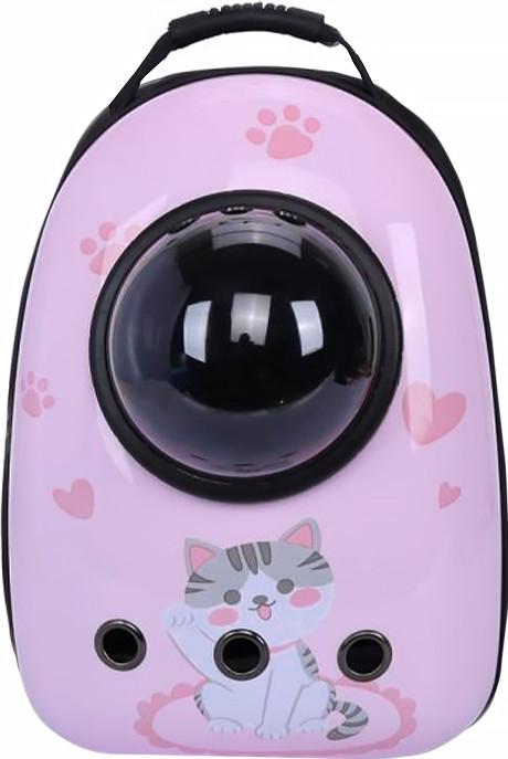 Рюкзак-переноска для кішок Taotaopets Window Cat Pink котів собак з ілюмінатором