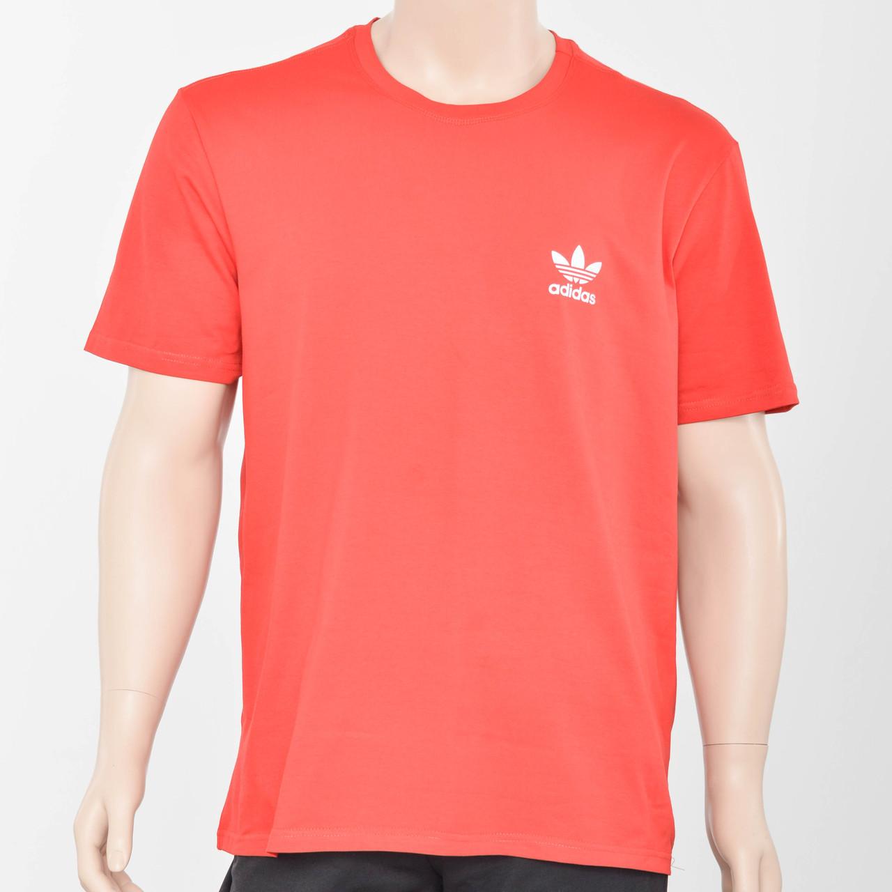 Футболка Батал оптом с светоотражайкой FBO-4050 красный