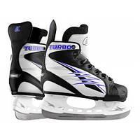 Коньки ледовые Спортивная коллекция Turbo Blue 32-35