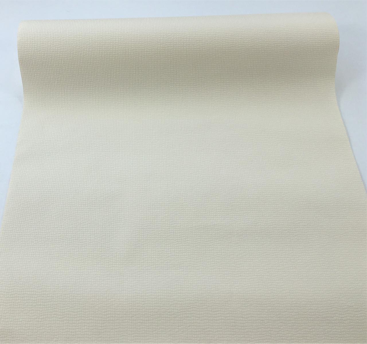 Кремові однотонні шпалери 140739, світлого пастельного відтінку, миються вінілові на флізеліновій основі