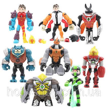 Ігровий набір Ben 10 8 фігурок героїв Бен 10, розмір 10-12 см + Світло, фото 2