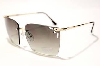Женские солнцезащитные квадратные очки Сепори 15102 B2 реплика Черные с градиентом