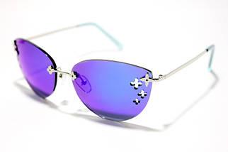 Женские солнцезащитные очки бабочки Сепори 15126 B4 реплика Синие