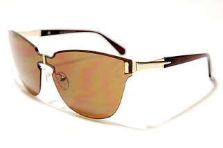 Женские солнцезащитные очки бабочки Сепори 16808 B2 реплика Коричневые