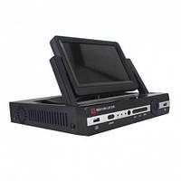 Видеорегистратор с монитором,  модель 704, 7 дюймов LCD экран, USB 2.0, ИК пульт