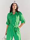 Комбинезон женский зеленый коттоновый SOLH MKSH2635, фото 2