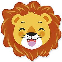 Веселий лев фольгований куля з гелієм, 60 см