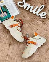 Жіночі кросівки помаранчева п'ятка, фото 1