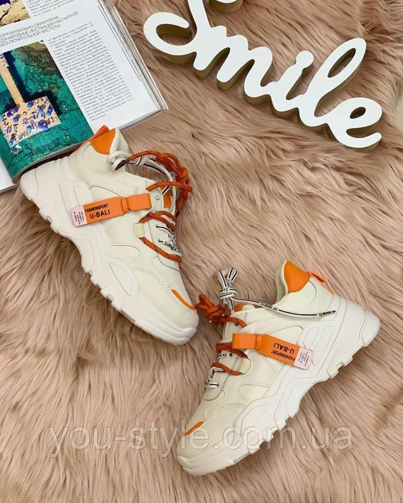 Жіночі кросівки помаранчева п'ятка