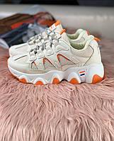 Женские кроссовки фила оранжевые, фото 1