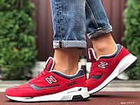 Мужские кроссовки в стиле New Balance Нью беланс 1500, кожа, красные 42 (26,8 см), Д - 9917
