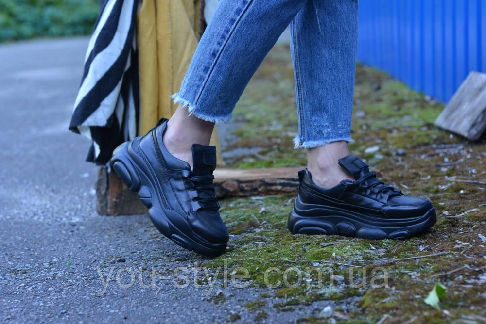 Кросівки натуральна шкіра чорні