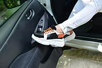 Кросівки шкіряні на липучці, фото 1