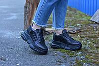 Кросівки чорні замша з візерунком, фото 1