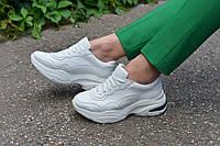 Кросівки білі, натуральна шкіра, фото 1