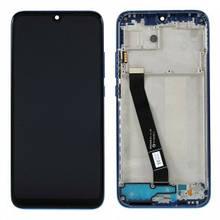 Дисплей Xiaomi Redmi 7 с сенсором (тачскрином) черный и с рамкой синего цвета Оригинал (561010017033)