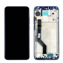 Дисплей Xiaomi Redmi Note 7 с сенсором (тачскрином) и рамкой синего цвета, Оригинал (5610100140C7)
