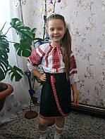Детская блуза с вышивкой и юбка