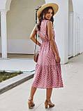 Жіночий літній сарафан на брітелях в горох тканина софт розмір: 42-44, 46-48, фото 2