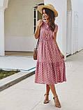 Жіночий літній сарафан на брітелях в горох тканина софт розмір: 42-44, 46-48, фото 7