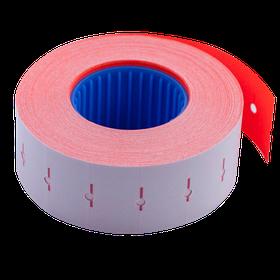 Цінник 22*12мм (1000шт, 12м), прямокутний, внутрішня намотування, червоний